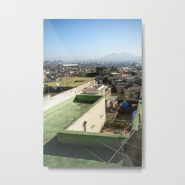 green Naples with vesuvio in sight photo Metal Print