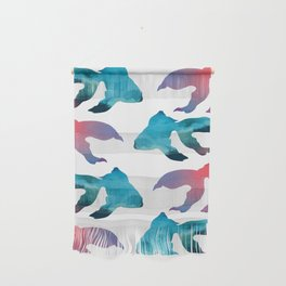 Pattern Oil Painting Abstract Tropical Fish Wall Hanging