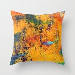 Imaginaere Landschaft II abstrakte Malerei Throw Pillow