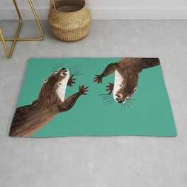 Asian small-clawed otter Marine Rug