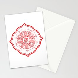 Root Chakra Mandala #04 Stationery Cards