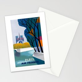 1959 Paris Air France Advertising Poster Stationery Cards