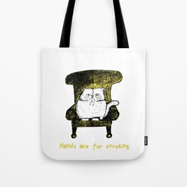 Hands are for Stroking (Yellow) Tote Bag