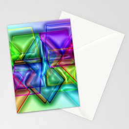 Play with transparent plastic ... Stationery Cards