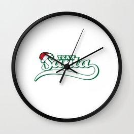 Hilarious & Joyful Xmas Tshirt Design Team Santa Wall Clock