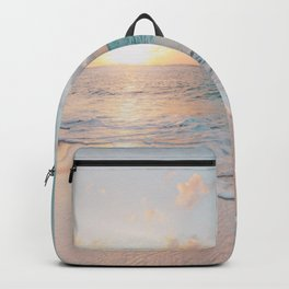 Ocean Wave and Sunset Beach Backpack