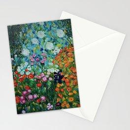 Flower Garden Riot of Colors by Gustav Klimt Stationery Cards