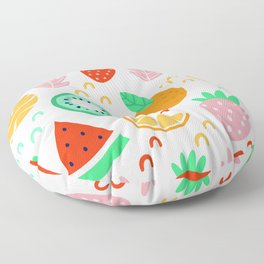 Colorful Fruits Floor Pillow