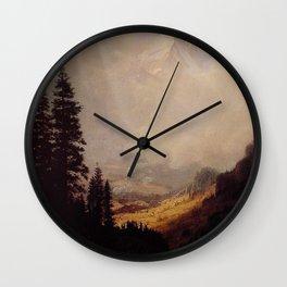 The Matterhorn By Albert Bierstadt | Reproduction Painting Wall Clock