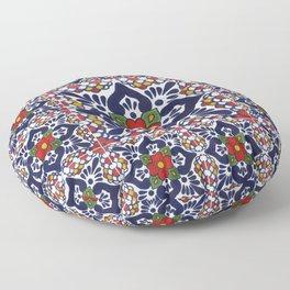 talavera mexican tile pattern Floor Pillow