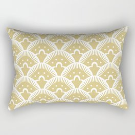 Fan Pattern Gold 201 Rectangular Pillow