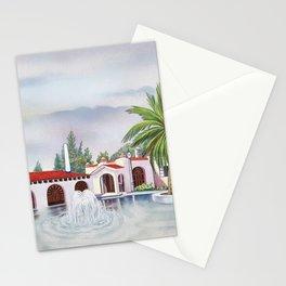 'Hacienda con fuente' landscape portrait by Antonio Ruiz Stationery Cards