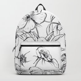 Beautiful illustration in vintage style with roses  Backpack