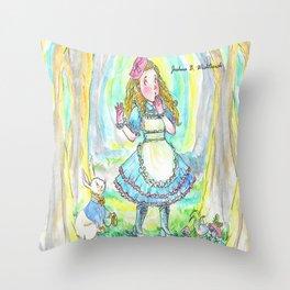 Alice's Adventures In Wonderland Throw Pillow