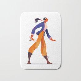 Pirate Girl Bath Mat