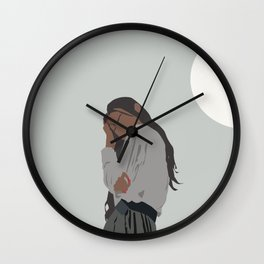 mood. minimalist illustration Wall Clock