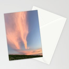 Clouds at Sunset in Herring Cove Beach in Ptown Stationery Cards