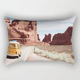 Yellow Van Road Trip  Rectangular Pillow