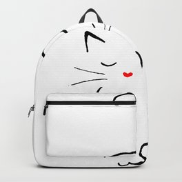 Kitty With A Heart Nose And Paw Backpack