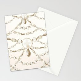 Beaded Pearls Stationery Cards