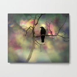 Crow Dreams In Colors Metal Print