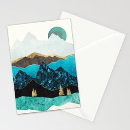 Teal Afternoon Stationery Cards