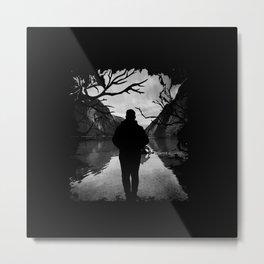 Walk Alone to The River Metal Print