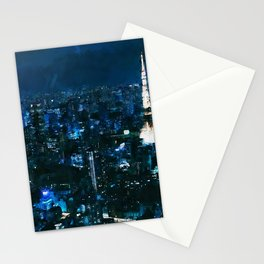 Nightlife in Tokyo Stationery Cards