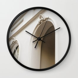Romantic Arch. Minimalistic print - fine art photography Wall Clock
