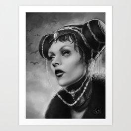 Vampire Queen Art Print