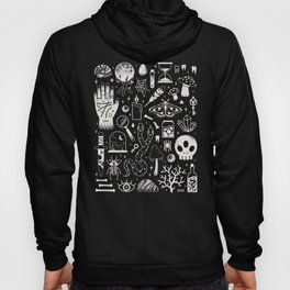 Curiosities: Bone Black Hoodie
