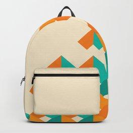 Pattern - Cube - Geen / Orange Backpack