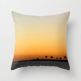 Sunset at the Paradise Throw Pillow