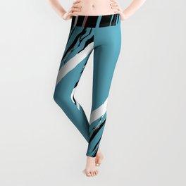 Bohemian Brushstrokes - Blue Leggings
