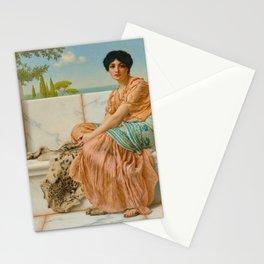 "John William Godward ""Reverie (In the Days of Sappho)"" Stationery Cards"