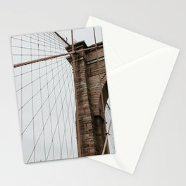 Brooklyn Bridge close up | Colourful Travel Photography | New York City, America (USA) Stationery Cards