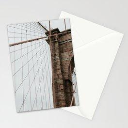 Brooklyn Bridge close up | Colourful Travel Photography | New York City, America (USA) Stationery Cards