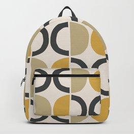 Mid Century Modern Half Circle Pattern 590 Backpack