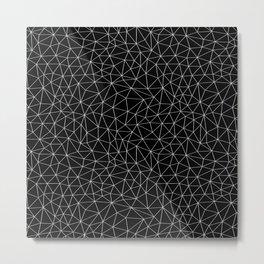 Low Pol Mesh (negative) Metal Print