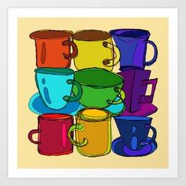 Tea Cups Coffee Mugs Art Print