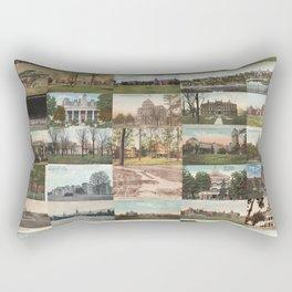 Kirkbride Asylum Vintage Postcard Collage Rectangular Pillow