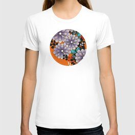 Japanese Circle 4 Chrysanthemum Flower T-shirt