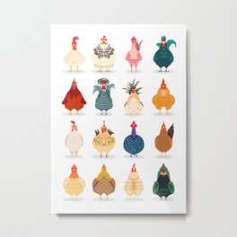 Cute Chicken Metal Print