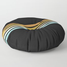 Retro Sunshine Stripes Floor Pillow