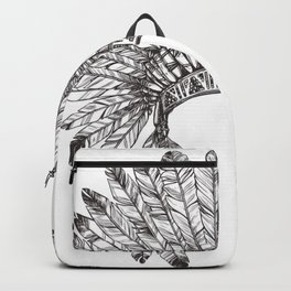 Native Chief headdresses  Backpack