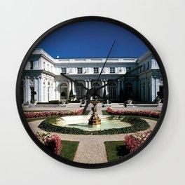 Newport Mansions, Rhode Island - Rosecliff - Original Great Gatsby Mansion by Jeanpaul Ferro Wall Clock