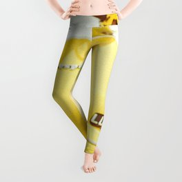 Yellow Scooter #vespaprint #italyphoto #travel #modstyle #yellowmustard Leggings