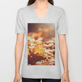 Autumn Leafs (Color) Unisex V-Neck