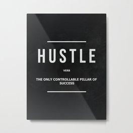 Hustle Verb Motivational Wall Art Entrepreneur Motivation Metal Print