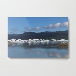 Ice by Mendenhall Glacier Metal Print